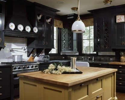 Dark Wood Kitchen Cabinets: Bring The Real Beauty Of Black in Your Cooking Room