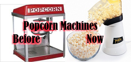Popcorn machines before and now