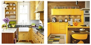 yellow color in kitchen